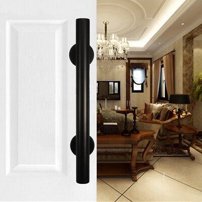 12'' Stainless Steel Barn Door Handle Set Gate Sliding Pull & Flush Hardware  AU