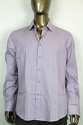 0ff46ca38a9 New Gucci Mens Fitted Cotton Button-Down Dress Shirt Light Purple 269053  5310