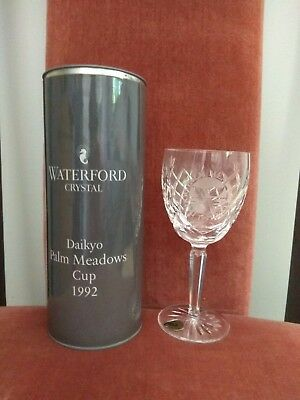 WATERFORD LEAD CRYSTAL WINE GLASS - No 2 of 3 Listed