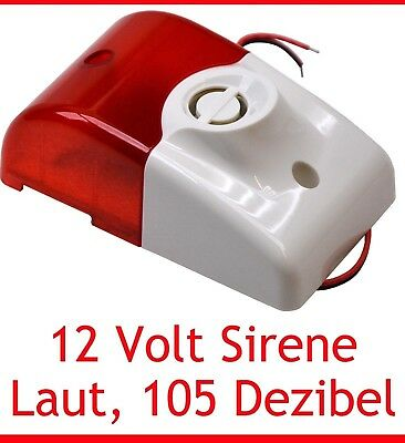 12V Sirene Alarm Led Stroboskop 105 Db Loud 12Volt Simple To Install New Neu