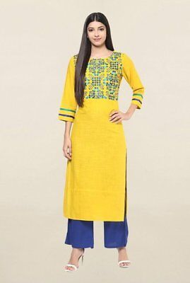 Indian Bollywood Style Kurtis Made From Pure Cotton Best Fitting All Sizes-34