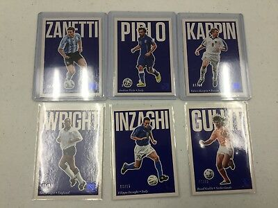 2017 Panini Nobility Soccer 6 Card Blue /99  Lot Amazing Cards