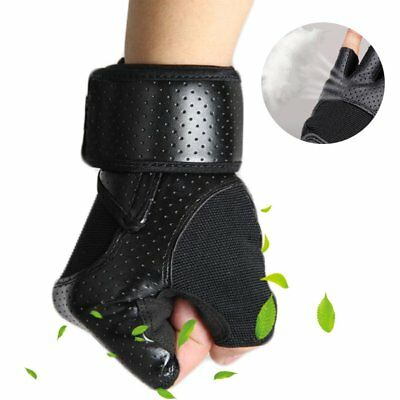 Weight Lifting Padded Leatchr Gloves Fitness Training Body Bulding GYM Starps