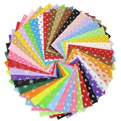 40Pcs/Lot Pattern Fabric Heart Dot Felt Cloth Nonwoven DIY Handmade Sewing Fabri