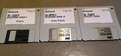 3 disks for S-330 ROLAND 2 system & 1 utility