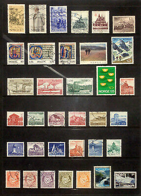Good lot of used stamps from Norway 1977-83