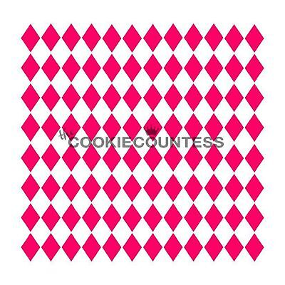 The Cookie Countess MINI HARLEQUIN Stencil - biscuit, cake, craft