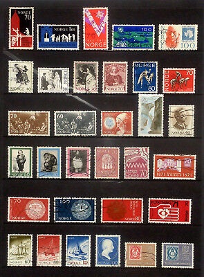 Good lot of used stamps from Norway 1970-73