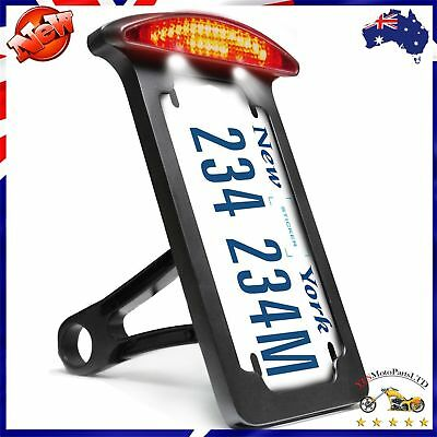 License Plate Bracket Number Plate Lights Holders For Harley Customs Choppers