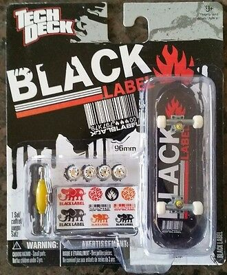 TECH DECK FINGERBOARD SKATEBOARD BLACK LABEL 96mm NEW SEALED