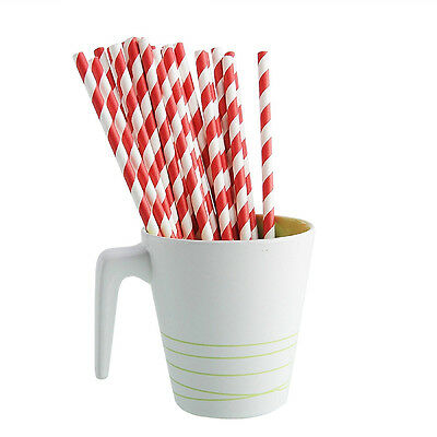 Biodegradable Paper Colors Drinking Straws Striped Tools Party Wedding Birthday*