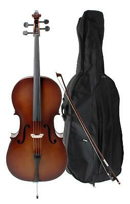 Classic Cantabile 3/4 Size Student Cello Set Bow Gigbag Handmade Instrument Set