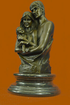 Happy Family French Artist Dalou Hot Cast Art Bronze Sculpture Statue Figure T