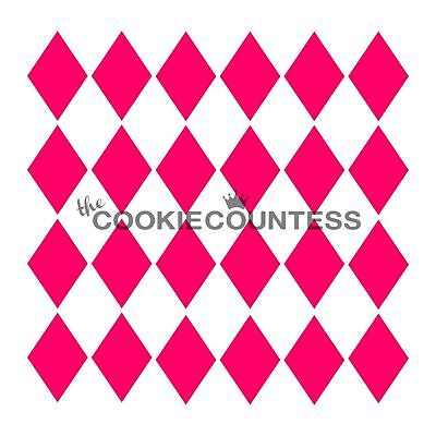 The Cookie Countess HARLEQUIN Stencil - biscuit, cake, craft