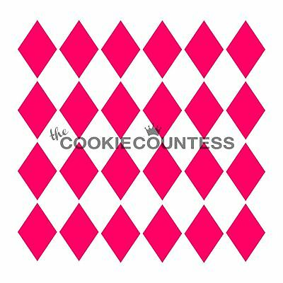 The Cookie Countess HARLEQUIN Stencil