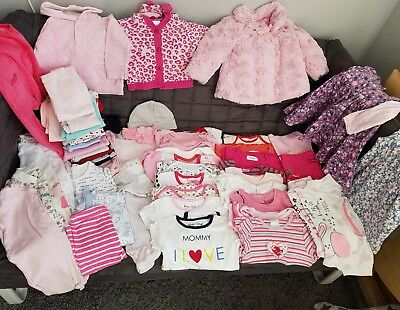 Baby Girl Clothes Bundle 3-6 +Months.Over 50 items