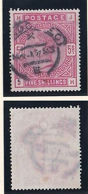 Lot:23558  GB QV  SG181 5s red 'JH'  1883/84