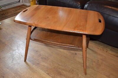 Ercol Golden Dawn tray top table with undertier mod 457