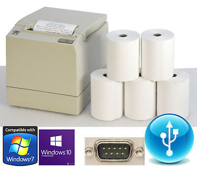 USB & RS232 POS PRINTER KASSENDRUCKER BONPRINTER NCR-7197 FÜR WIN 7 XP+5x ROLLEN