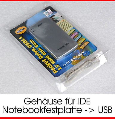 Usb Extern Hdd Case+Cable Adapter Von Ide 44Pin Pata Hdd Festplatte Zu Usb Top