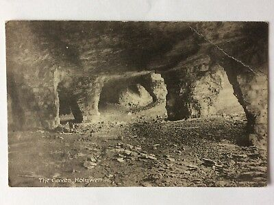 vintage postcard, Holywell, The Caves, Cornwall ?, early