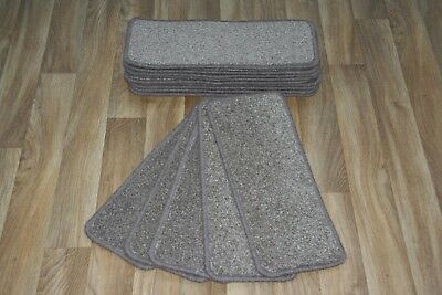 14 Carpet Stair case Treads Paris Brown Stain Free - Carpet Stair Pads