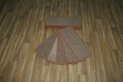 14 Carpet Stair case Treads India Beige Stain Free - Carpet Stair Pads