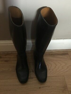 Mustang Black Rubber Riding Boots Uk Size 3 36