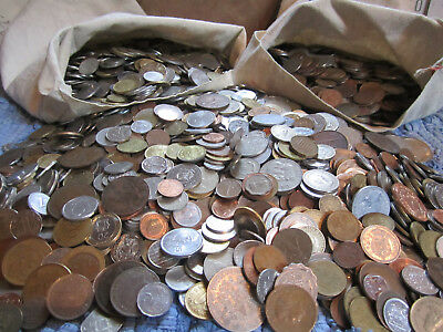 NOT JUNK DRAWER - Old World / Foreign Lot - 50 all diff. circ. coins - BONUS w/2
