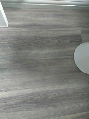 new b q silver grey effect vinyl click flooring 25 00 picclick uk