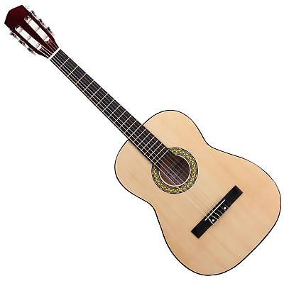 7/8 Size Left Handed Classical Acoustic Concert Guitar 6 Nylon Strings Basswood