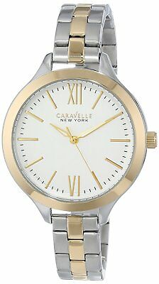 New Caravelle New York by Bulova 45L139 Womens Two-Tone Stainless Steel Watch