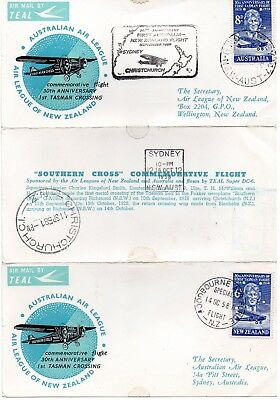 commemorative cover, 30th anniversary of 1st Tasman Crossing 1958
