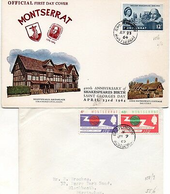 2 Montserrat 1960s first day covers
