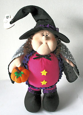 Cute PLUSH WITCH FIGURE Chubby NEW