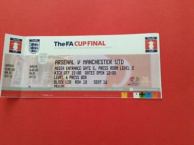 Arsenal Reproduction Fa Cup Final Match Ticket 2005