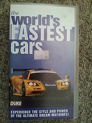World's Fastest Cars (VHS, 1995)