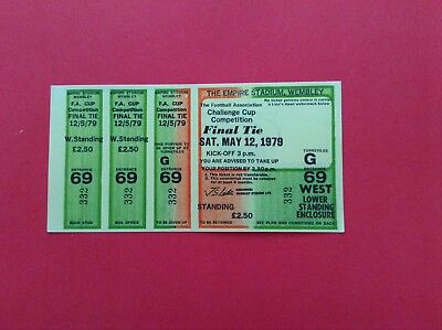 Arsenal Reproduction Fa Cup Final Match Ticket 1979