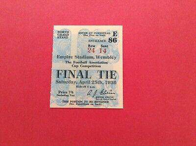 Arsenal Reproduction Fa Cup Final Match Ticket 1952