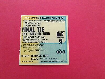 Arsenal Reproduction Fa Cup Final Match Ticket 1980
