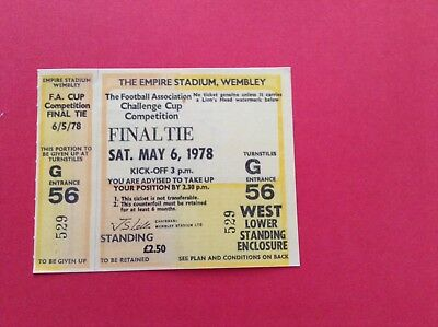 Arsenal Reproduction Fa Cup Final Match Ticket 1978