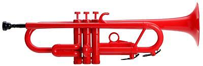 Set Trompette Jazz Instrument A Vent 3 Pistons Sac Stand Nettoyage Rouge