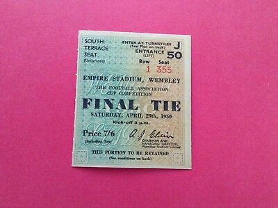 Arsenal Reproduction Fa Cup Final Match Ticket 1950