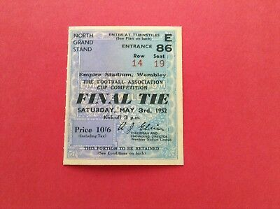 Arsenal Reproduction Fa Cup Final Match Ticket 1936