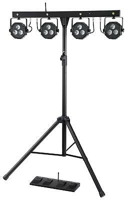 Led Light Effect Stage Lighting Par System Dmx Rgb Dj Pa Stand Control Pedal Set
