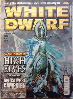 White Dwarf 335 November 2007 Warhammer, 40k LOTR Strategy Battle GW