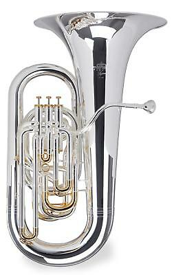 BRASS TUBA Eb TUNING 4 STAINLESS STEEL VALVES WITH TRANSPORT CASE & MOUTHPIECE
