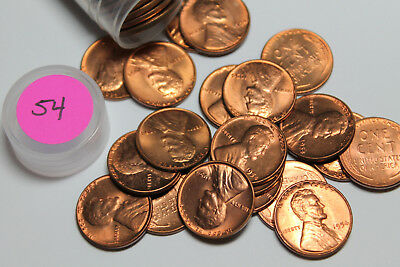 1954  roll of BU Lincoln wheat cents