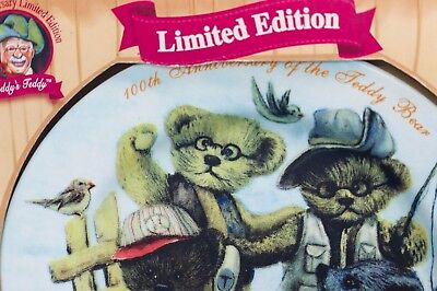 Teddy Bear collectable plate 100th anniversary limited edition Dan Dee