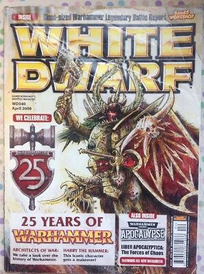 White Dwarf 340 April 2008 25 Years Of Warhammer, 40k LOTR Strategy Battle GW